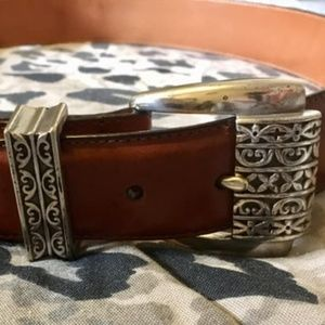 Brighton Museum Collection Leather Belt VTG Large